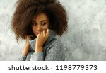 portrait of young black woman... | Shutterstock . vector #1198779373