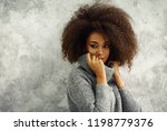 portrait of young black woman... | Shutterstock . vector #1198779376