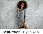 young black woman wear high... | Shutterstock . vector #1198779379