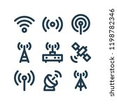 wireless related minimalistic... | Shutterstock .eps vector #1198782346