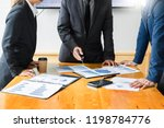 team work process. young... | Shutterstock . vector #1198784776