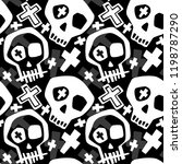 skull funky boys and girls... | Shutterstock .eps vector #1198787290