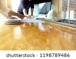engineer or architectural... | Shutterstock . vector #1198789486