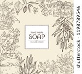 background with handmade soap ... | Shutterstock .eps vector #1198789546