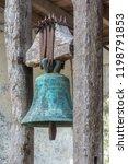 ancient bronze bell covered...   Shutterstock . vector #1198791853