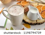 autumn composition with hot...   Shutterstock . vector #1198794739