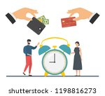 credit card purchase and... | Shutterstock .eps vector #1198816273