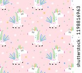 vector seamless pattern with... | Shutterstock .eps vector #1198816963