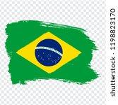 flag brazil  brush stroke...
