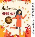 autumn super sale background...   Shutterstock .eps vector #1198823296
