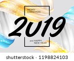 2019 merry christmas and happy...   Shutterstock .eps vector #1198824103