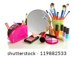 cosmetics near mirror isolated... | Shutterstock . vector #119882533