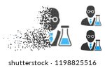 chemist icon in disappearing ... | Shutterstock .eps vector #1198825516