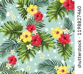 tropical seamless vector... | Shutterstock .eps vector #1198827460