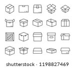 set of box icon | Shutterstock .eps vector #1198827469