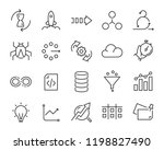 simple set of vector line icons ... | Shutterstock .eps vector #1198827490