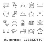 set of hotel icons  such as ... | Shutterstock .eps vector #1198827550