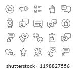 set of feedback line icons ... | Shutterstock .eps vector #1198827556