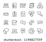 set of feedback line icons ... | Shutterstock .eps vector #1198827559
