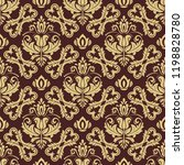classic seamless vector brown... | Shutterstock .eps vector #1198828780