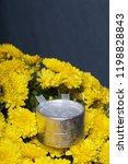 autumn flowers in a pot. yellow ...   Shutterstock . vector #1198828843