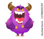 Stock vector angry cartoon monster halloween vector illustration 1198830259
