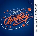 happy birthday hand lettering   ... | Shutterstock .eps vector #119883109