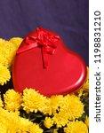 autumn flowers in a pot. yellow ...   Shutterstock . vector #1198831210