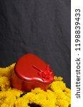 autumn flowers in a pot. yellow ...   Shutterstock . vector #1198839433