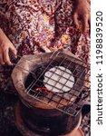 Roasting Khao Kriab Or Rice...