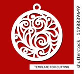 christmas decoration   lace...   Shutterstock .eps vector #1198839649