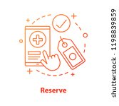 reserve concept icon. make... | Shutterstock .eps vector #1198839859