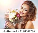 portrait of beautiful happy... | Shutterstock . vector #1198844296
