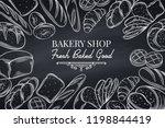 bakery template page. retro... | Shutterstock .eps vector #1198844419