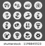 flowers web icons stylized... | Shutterstock .eps vector #1198845523