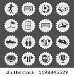 football web icons stylized... | Shutterstock .eps vector #1198845529