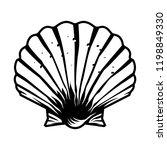vintage monochrome scallop...   Shutterstock .eps vector #1198849330