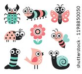 vector collection of cute... | Shutterstock .eps vector #1198850050