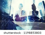 business people work together... | Shutterstock . vector #1198853803