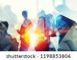silhouette of business people... | Shutterstock . vector #1198853806