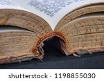 book tattered old worn close up ...   Shutterstock . vector #1198855030