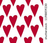 banner red hand drawn hearts ... | Shutterstock .eps vector #1198859230