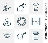 cook icons line style set with... | Shutterstock .eps vector #1198861870