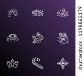 holiday icons line style set... | Shutterstock . vector #1198862179