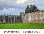 pisa city walls  erected in... | Shutterstock . vector #1198862473