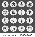 electricity web icons stylized... | Shutterstock .eps vector #1198863460