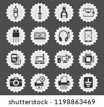 electronics repair web icons... | Shutterstock .eps vector #1198863469