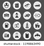 extraction of oil web icons... | Shutterstock .eps vector #1198863490