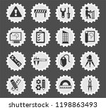 engineering web icons stylized... | Shutterstock .eps vector #1198863493
