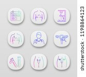 gynecology app icons set....